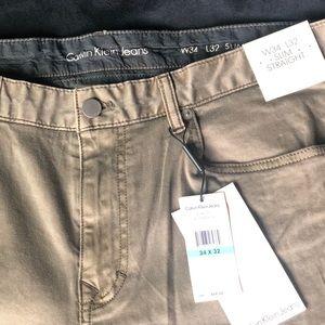 CALVIN KLIEN khaki jeans
